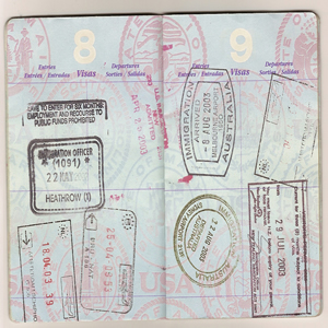 Travel abroad - visa page